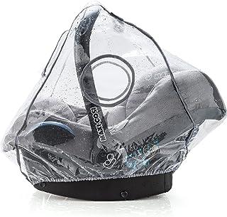 Universal Komfort Regenschutz für Babyschale z.B. Maxi-Cosi / Cybex / Römer - gute Luftzirkulation, verschließbares Kontakt-Fenster, Eingriffsöffnung für Tragegriff, PVC-frei