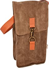 ARTISAN Leather Wine BAG MADE IN ARGENTINA Handmade DIRECT from a DESIGNER BAG MAKER- BESPOKE- Excellent Quality Fits 2 Bottles Perfect Gift for the Wine Enthusiast, Champagne AND Spirits NOW Brown