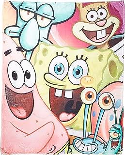 Entertainment Retail Enterprises Spongebob Squarepants Full Cast Woven Blanket 50x60