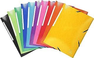 Exacompta 55829E avec 25 Classeurs, Carton Iderama, 425 gm², 3 Rabats, Élastique, Grande Capacité, Idéal pour les Document...