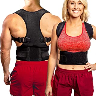 Back Brace Posture Corrector XL   Best Fully Adjustable Support Brace   Improves Posture and Provides Lumbar Support   For...