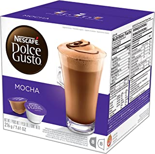 NESCAFÉ Dolce Gusto Coffee Capsules  Mocha  48 Single Serve Pods, (Makes 24 Specialty Cups)   48 Count