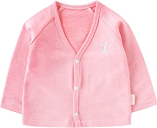 pureborn Baby Boys Girls V-Neck Solid Cardigan Sweater Kid Cotton Clothes Coats Outwear Spring 1-3t Kid