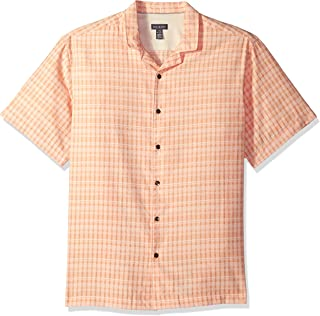 Men's Air Seersucker Short Sleeve Button Down Stripe Shirt