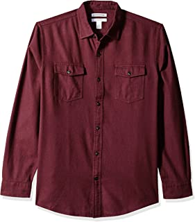 Best mens flannel shirts burgundy Reviews