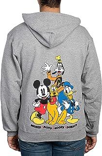 Disney Sudadera con capucha para hombre Mickey Mouse Donald Goofy Pluto Print Zip Up