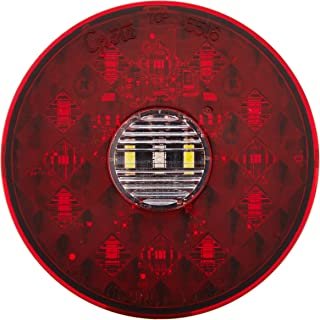 "Grote 55162 4"" Round LED Stop Tail Turn Light with Integrated Backup (Integrated 4-Pin Hard Shell Termination)"