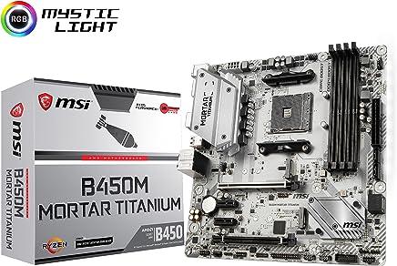 MSI B450M MORTAR TITANIUM M-ATX ゲーミングマザーボード [AMD B450チップセット搭載] MB4528