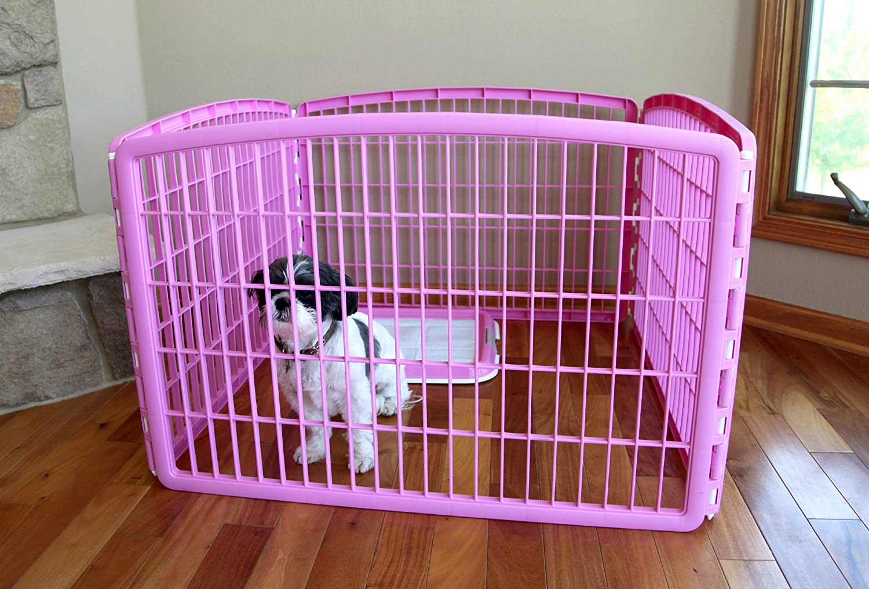 Pink 2 Add-On Panel IRIS 24 Pet Playpen 4