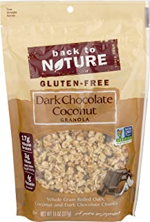 Back to Nature Gluten Free Granola, Non-GMO Dark Chocolate Coconut, 11 Ounce (Pack of 6) (Packaging May Vary)