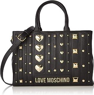 Love Moschino Pu, Borsa Tote Donna, (Nero)), 23x32x10 cm (W x H x L)