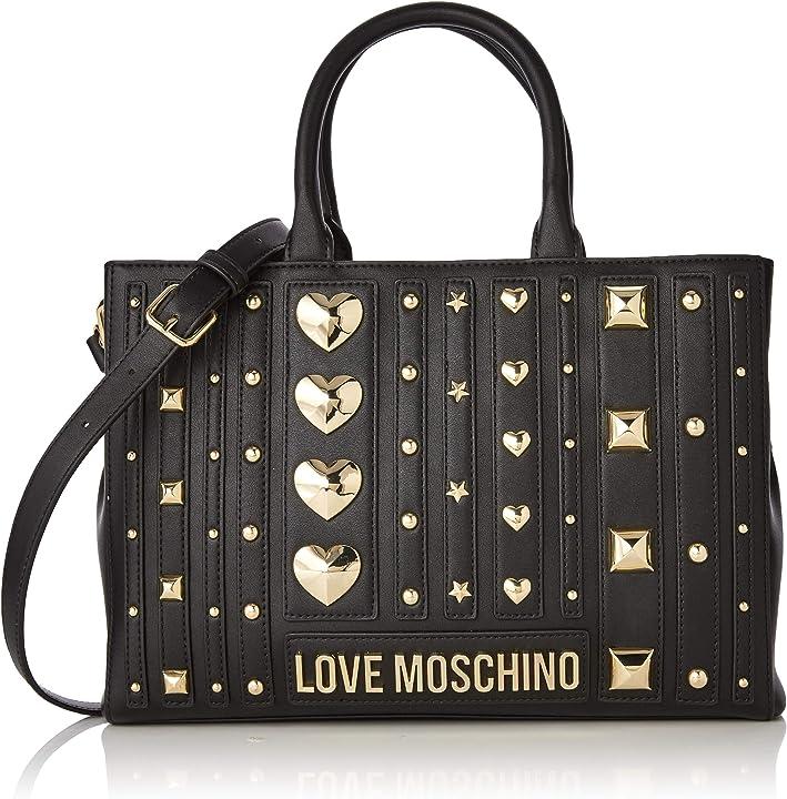 Borsa love moschino pu borsa tote donna nero (nero) 23x32x10 cm (w x h x l) JC4238PP08KF0