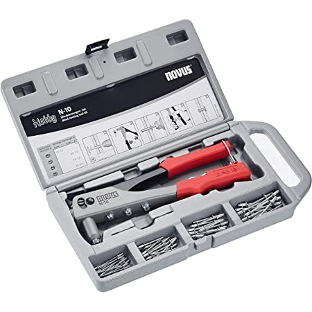 Novus Blindnietzange N 10 Set Im Koffer Inkl 15x Aluminium Blindniete A2 5 A3 A4 Und A5 Nietenzange Für 1 Hand Bedienung Baumarkt