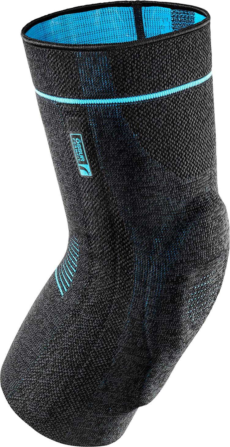 Ossur Formfit Pro Knee Sleeve – Compression 3D Knit Medical Grade Brace – for Knee Patella Joint Pain – Gym, Running, Basketball, Workout, Lifting, Crossfit, Tennis (Small)