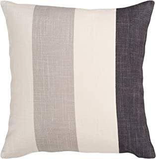 Loloi DSET DSETP0196WHGOPIL1 100/% Cotton Cover with Down Fill Decorative Accent Pillow 18 x 18 White//Gold