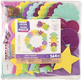 Darice , 364 pieces Foam Party Platter: Magical Basic Shapes, 364Piece, Multicolor
