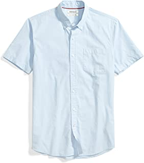 Goodthreads Men's Slim-Fit Short-Sleeve Printed Poplin Shirt