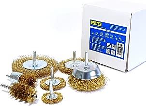 Set 7 Spazzole Metalliche per Trapano per Ruggine Metallo Legno. Codolo 6 mm liscio. Professionali