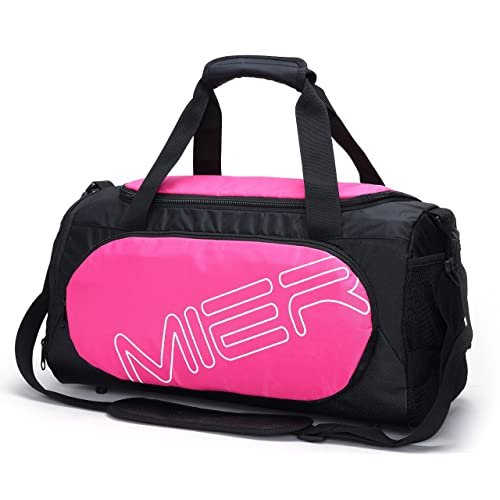 b7fa2d9acc88 MIER Gym Bag Sports Duffel for Men and Women with Shoe Compartment