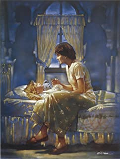Ron DiCianni ANGELS UNSEEN CANVAS Mother Daughter Prayer Christian Image Size 9