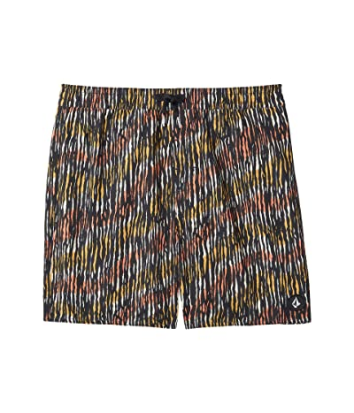Volcom Kids Brimmer Elastic Waist Trunks (Little Kids/Big Kids) (Black) Boy