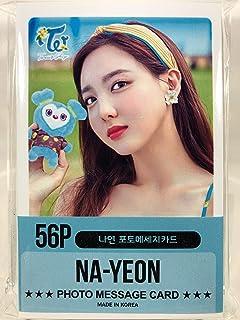 NAYEON ナヨン - TWICE トゥワイス グッズ / フォト メッセージカード 56枚 (ミニ ポストカード 56枚) セット - Photo Message Card...