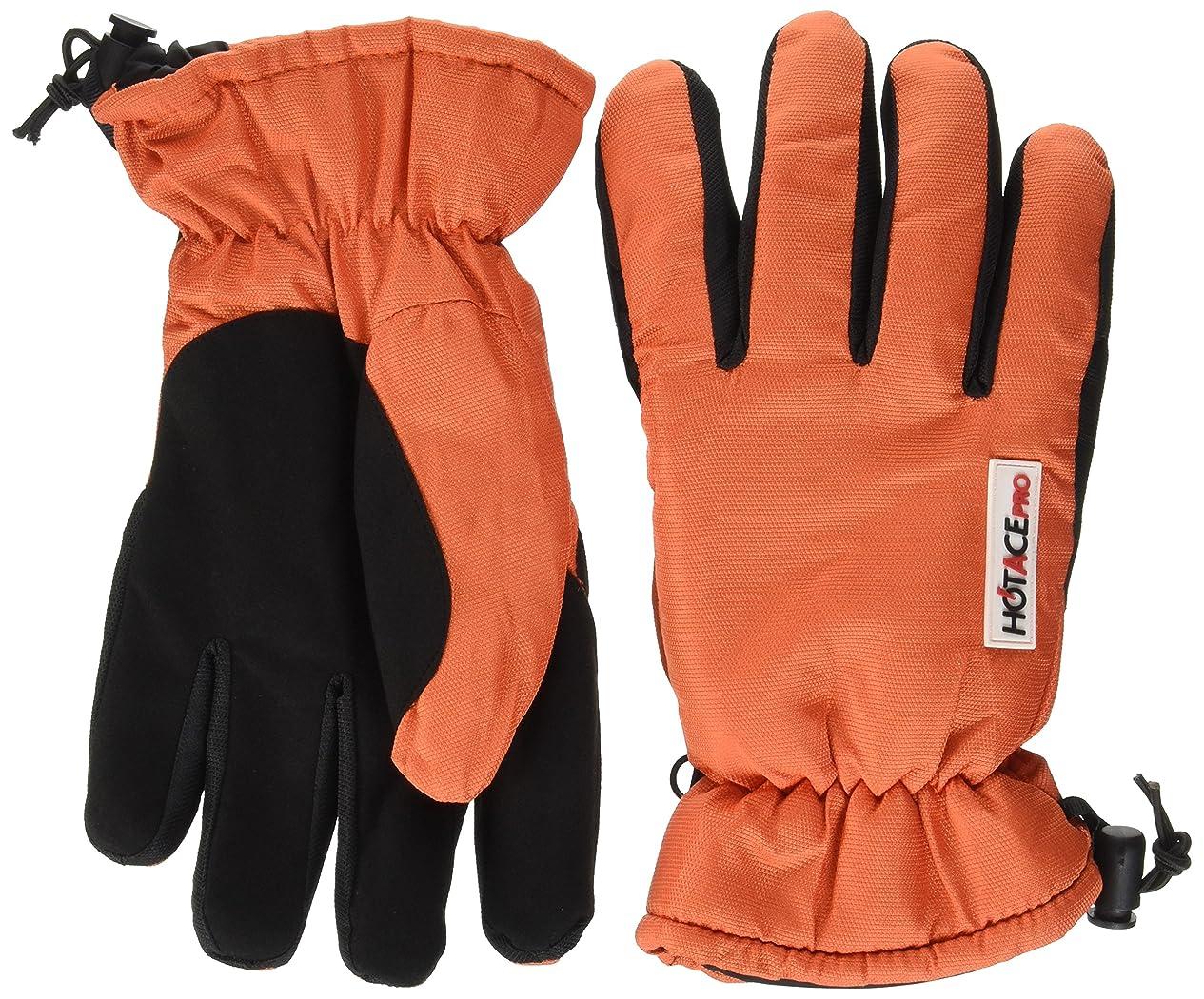 おたふく手袋 防寒防水手袋 ホットエースプロ 厚手保温 ワンタッチしぼりタイプ L HA-324