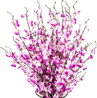 TYEERDEC Artificial Orchids Flowers, 10 Pcs Silk Fake Orchids Flowers in Bulk Orquideas Flowers Artificial for Indoor Outdoor Wedding Home Office Decoration Festive Furnishing Purple