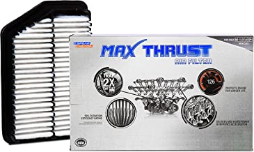 Spearhead MAX THRUST Performance Engine Air Filter For Low & High Mileage Vehicles - Increases Power & Improves Acceleration (MT-053A)