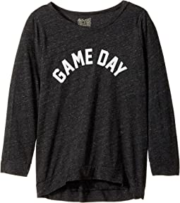 The Original Retro Brand Kids - Game Day Tri-Blend 3/4 Pullover (Big Kids)
