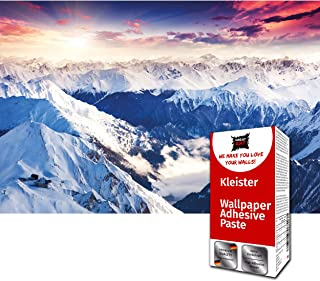 GREAT ART Photo Wallpaper Alps Panorama Decoration 132.3x93.7in / 336x238cm – Swiss Mountains Dawn Sun Winter Wonderland S...