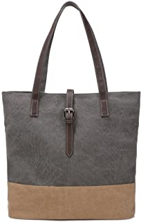 ArcEnCiel Canvas Tote Bag for Women Shoulder Purse Beach Handbags Work School Travel Shopping Pack