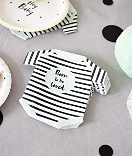 Talking Tables Shower Decorations Party Supplies Newborn Baby Celebration Décor Gifts Babygrow Shaped Napkins, 1