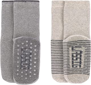 Lässig, Anti-slip Socks 2 Pcs. Assorted Grey/beige, Size: 19-22 Calcetín pantufla, 22 para Bebés