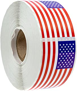 500 American Flag Stickers (Perforated)/2.125