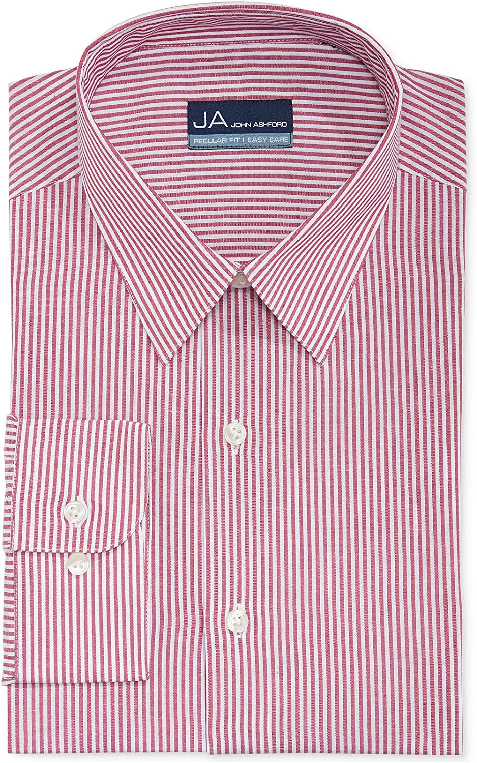 John Ashford Mens Regular Fit Striped Dress Shirt