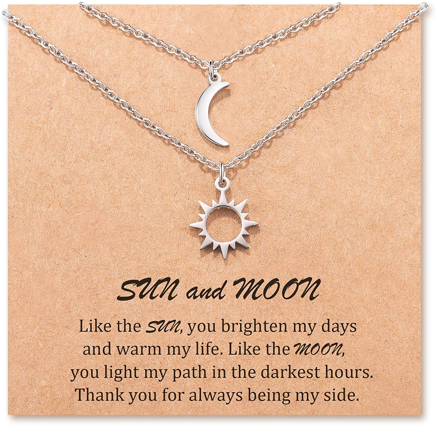 MANVEN Sun and Moon Best Friend Friendship Max 76% OFF for Latest item Necklace Pedant 2