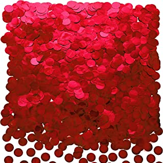 Red Foil Metallic Round Table Confetti Decor Circle Dots Mylar Table Scatter Confetti Wedding Bachelorette Valentines Moth...