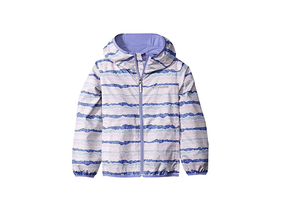 Columbia Kids Pixel Grabbertm II Wind Jacket (Little Kids/Big Kids) (Clematis Blue Stripe/Fairytale) Girl