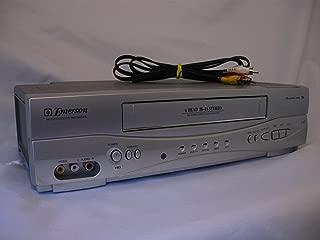 Emerson EWV603 4 Head HIFI Stereo ON-SCREEN MENU Video Player / Recorder (VCR) with 19 Micron Heads