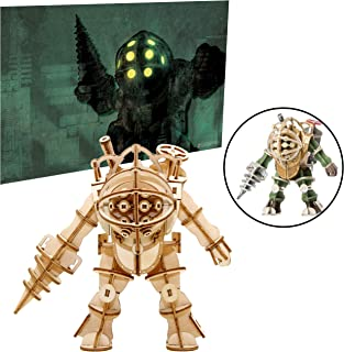 Bioshock Big Daddy Poster and 3D Wood Model Figure Kit - Build, Paint and Collect Your Own Wooden Toy Model - Great for Teens and Adults,17+ - 5