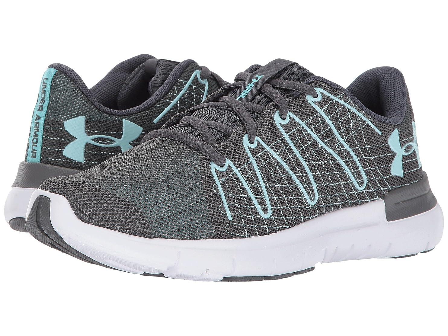 些細鳴らす不快な(アンダーアーマー) UNDER ARMOUR レディースランニングシューズ?スニーカー?靴 Thrill 3 Rhino Gray/White/Blue Infinity 7.5 (24.5cm) B - Medium
