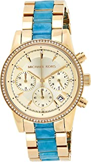 Michael Kors Womens Quartz Watch, Analog Display and Stainless Steel Strap MK6328