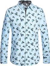 SSLR Men's Shark Slim Fit Long Sleeve Casual Button Down Shirt