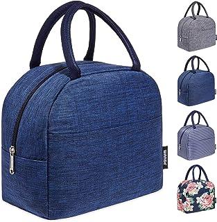 Lovemay Lunch-Tasche wasserdichte Canvas Lunch Bag Damen Mittagessen-Einkaufstasche f/ür Arbeit B/üro Schule Camping Picknick Lgel