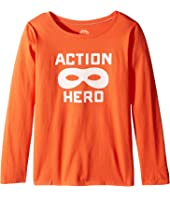 Life is Good Kids - Action Hero Mask Long Sleeve Tee (Little Kids/Big Kids)