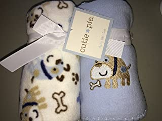 Cutie Pie Set of 2 Blue Dogs Baby Blankets