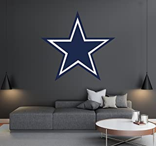 Dallas Cowboys - Football Team Logo - Wall Decal Removable & Reusable For Home Bedroom (Wide 30