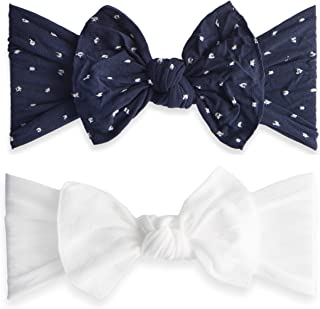2fe3e8d59ab Baby Bling Bow 2 Pack  Shabby Dot and Classic Knot Girls Baby Headbands -  MADE