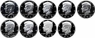 1970-1979 Proof Washington Quarters 9 Coin Run 1970s Decade Set